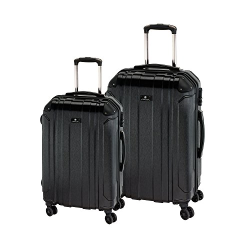 Check.IN 2-part Trolley Set 66/77cm Bilbao Black Negro