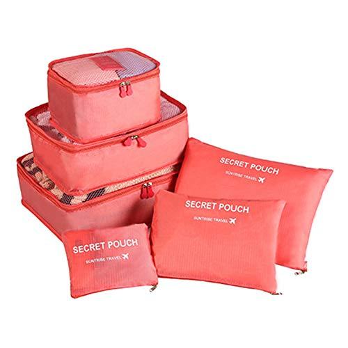 Alsu3luy02Ld Sac à Dos pour Ordinateur Portable Grande capacité Étanche USB Voyage école étudiant Bleu Motif Floral, Rouge pastèque (Rouge) - alsu3luy02Ld_Travel Toiletry Bag