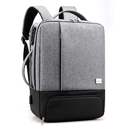 PJY Mens Rugzak Laptop Rugzakken 17 Inch Anti Diefstal Man Notebook Trip Back Pack Office Vrouwen Reistas, lichtgrijs, China