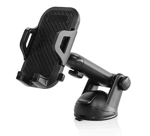 Wuchieal DuraHold Series Car Phone Mount for iPhone 11 Pro Xs Max XR X 8 7 6s Plus SE,Galaxy S10 5G S10+ S10e S9,Note 10,LG G8,Pixel,HTC[Washable Strong Sticky Gel Pad/Extendable Holder Arm