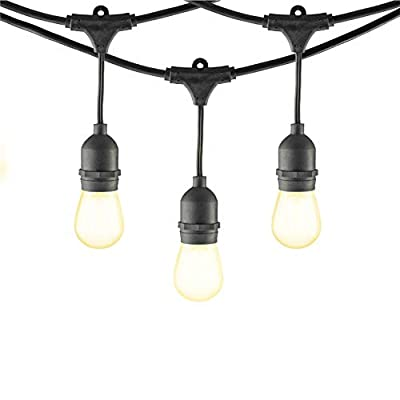 Mr Beams MB10024-BLK-24-00 LED, S14 Bulb String Lights, Black
