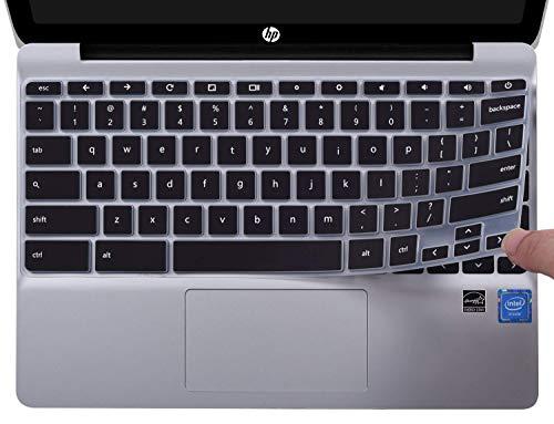 CaseBuy Keyboard Cover for 2020 HP 11.6 inch Chromebook, HP Chromebook x360 11.6 inch, HP Chromebook 11 G2 / G3 / G4 / G5 / G6 EE / G7 EE, HP Chromebook 11.6 Protective Skin, Black