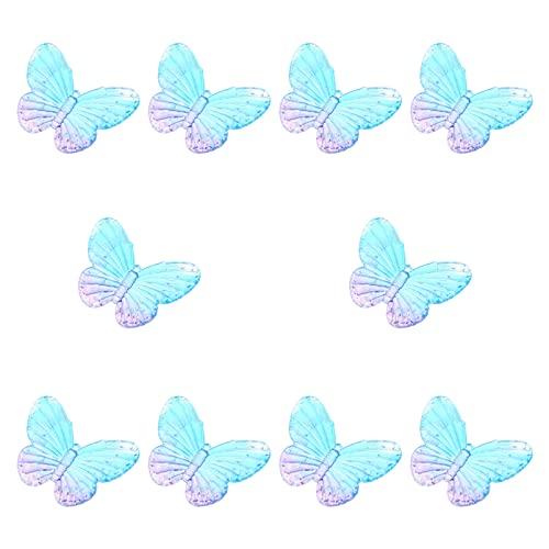 Monili di Fascini Del Pendente Della Farfalla Della Resina: Perline Farfalla Tornante di Fascini Gioielli FAI DA TE Accessori 10Pcs per La Collana' orecchino Del Braccialetto