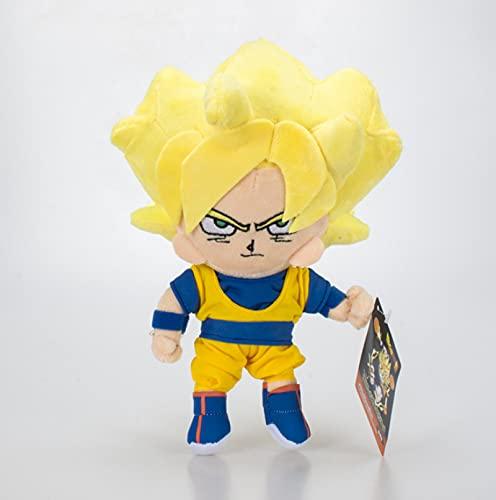 agzhu 23Cm Anime Dragon Ball Z muñeco de Peluche Goku Saiyan Juguete Suave Lindo Dibujos Animados muñecos de Peluche cumpleaños para niños