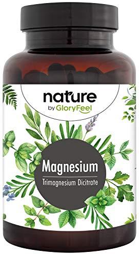 Magnesium Citrate 2580mg high Dosage - 400mg Elemental Magnesium + Vitamin B12 and B6 per Daily dose - 180 Vegan Capsules Magnesium Supplement