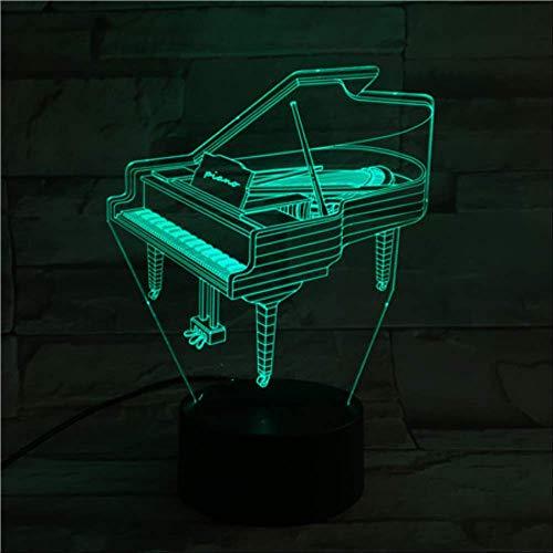Piano Usb 3d LED Nachtlicht Multicolor Rgb Jungen Kinder Baby Geschenke MusikinstrumentAtmosphäreTischlampe Nachttisch