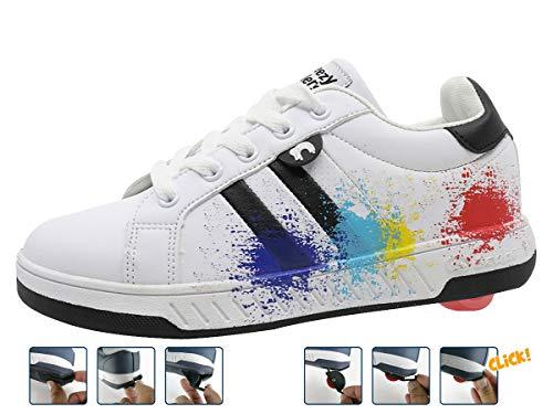 Breezy Rollers 2180370, Rollschuh, Schuhe mit Rollen, 2-in-1 Kinderschuhe, Skateboardschuhe, Sneakers (38)