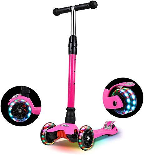 IMMEK Roller Kinder, PU Radstehende Scooter Roller mit LED-Lichtern, Scooter Kinder können auf DREI Verschiedene Höhen Werden.3-12 Jahre