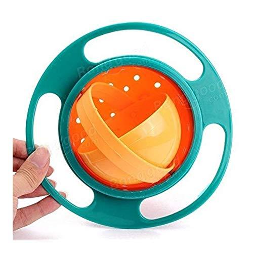 Yangyme Suppen Müslischalen Kreative Baby Futternapf Spielzeug Nicht Verschütten Universal Gyro Bowl Dish 360 Drehen Lustiges Geschenk UFO