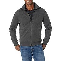 Deals on Amazon Essentials Mens Full-Zip Fleece Mock Neck Sweatshirt