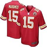 TOPSTEE Camisetas de fútbol americano al aire libre Patrick Chiefs NO.15 Rojo, Kansas City Mahomes Juego Jugador Jersey de secado rápido Competencia Jersey para hombres