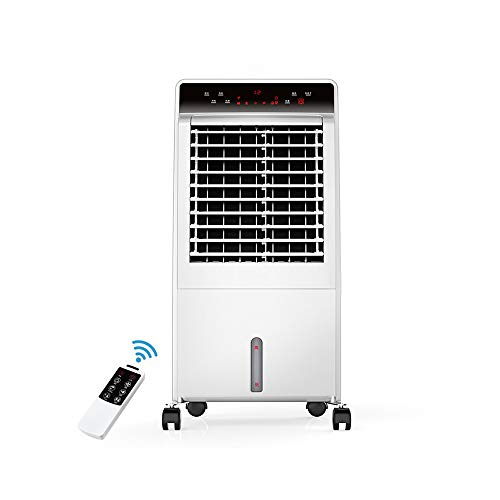 HANSHAN Mobile Klimageräte Mobile Klimaanlage mit Kühlung und Heizung, 12-Stunden-Timer-Funktion, 3 Windgeschwindigkeiten, 8-Liter-Wassertank, Leistung 65 Watt, 3 in 1 Luftkühler, Luftreinigern, Luft
