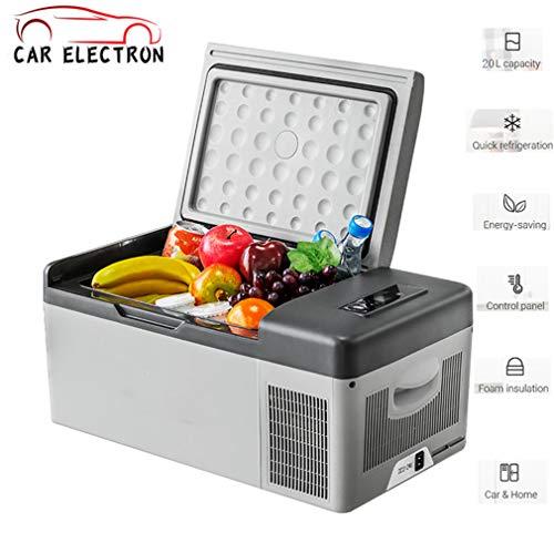 CAR ELECTRON draagbare auto-koelkast, multifunctionele koeler, warmer, mini-koelkast, met vriesvak voor rijden, reizen, vissen, outdoor en thuisgebruik, 15 l 12/24 V DC en 110-240 AC