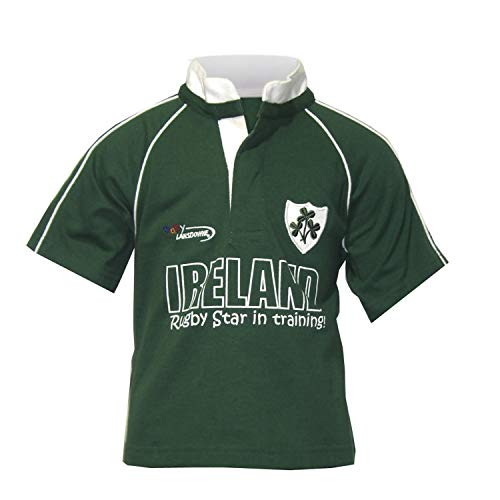 Carrolls Irish Gifts Rugby Star Babies Rugby Shirt, Green, 0-6 Months