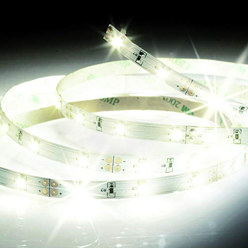 Ruban led - Rubans à led - Bande led - Bande à led - Ruban led de 5 mètres - KIT de ruban LED - Lumière blanche chaude - LSAK5 Xanlite