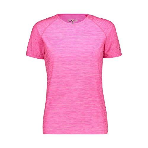 CMP Elastisches Melange T-Shirt mit Sonnenschutz UPF 40 Femme, Bouganville Mel, D44