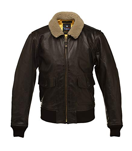 G1 SKYRIDER US Navy Leather Flight Jacket Top Gun Cazadora DE PILOTO Chaqueta Aviador Cuero (50)
