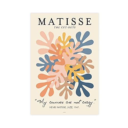 Henri Matisse Artwork Exhibition Posters 4 Canvas Poster Wall Art Decor Cuadros para Sala Dormitorio Decoración Unframe: 30 × 45 cm