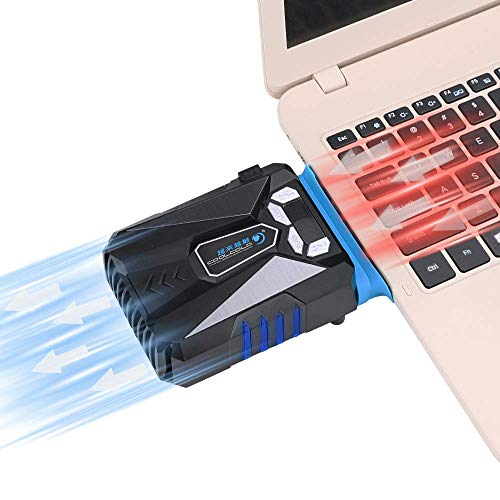Allnice Gaming Laptop Cooler with Vacuum Fan Cool USB Laptop Cooler High Performance MCU Control Wind Speed, Temperature Display, Rapid Cooling, Reusable Tape Notebook Cooling Fan