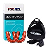TGQNZL 3 Pack Mouth Tooth Guard, Mouthguard for Sports Football Basketball Boxing MMA Hockey, Fit for Youth and Adults with Free Case(Red)