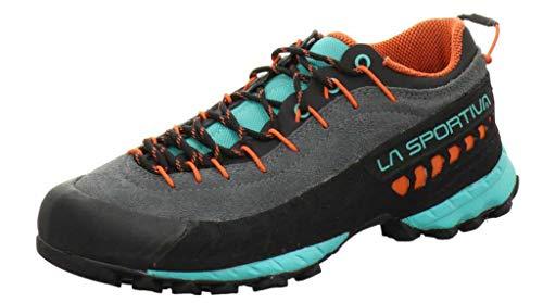 LA SPORTIVA TX4 Woman, Zapatillas de montaña Mujer, Carbon/Aqua, 36 EU