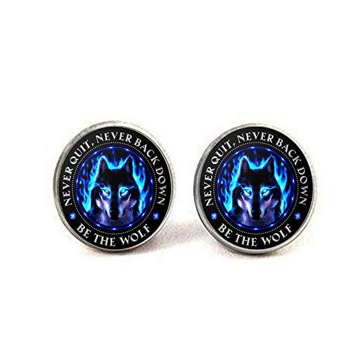 Wolfs-Ohrringe, Wolfs-Geschenke, Wolf-Liebhaber, Wolfs-Geist, Sei der Wolf, Wolf-Augen, nie aufhören, einheimischer Wolf.