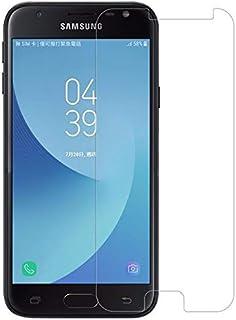 واقي شاشة مصنوع من الزجاج المقسى لحماية هاتف سامسونج جالكسي جي 4 2018 - شفاف
