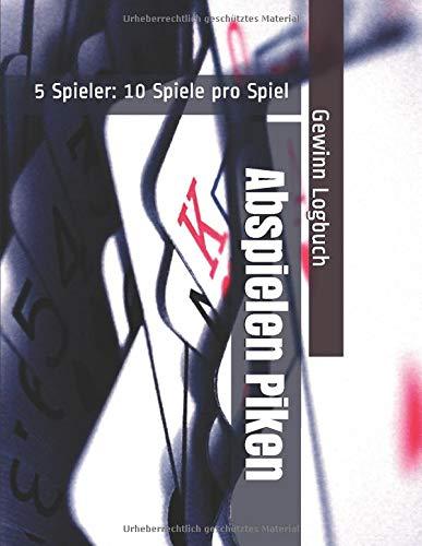 Abspielen Piken - 5 Spieler: 10 Spiele pro Spiel - Gewinn Logbuch
