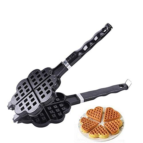 Best Buy! Bubble Waffle Maker, 180° Dual Sided Cooking Non-Stick, Die-Cast Aluminium Dual Waffle Ma...