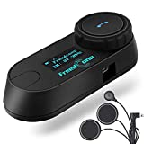 Freedconn TCOM-SC Motorcycle Helmet Bluetooth Intercom with FM, Motorcycle Bluetooth Headset Communication systems