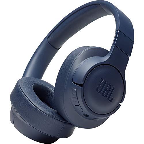 JBL Tune 700BT - Auriculares supraaurales con Bluetooth, cascos ligeros de diadema, con batería de hasta 27 horas y cable extraíble, azul