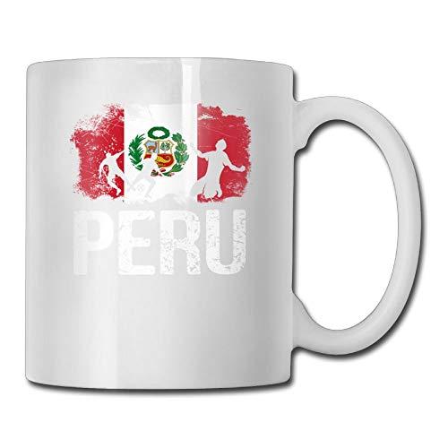 Taza de café personalizada con bandera de Perú, taza de té de cerámica para regalos de amor de novio de 11 onzas