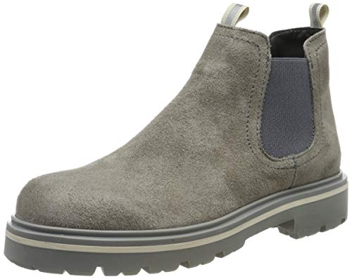 Tommy Hilfiger Damen Reflective Detail Chelsea Boot Stiefeletten, Grau (Mourning Dove Pdn), 38 EU