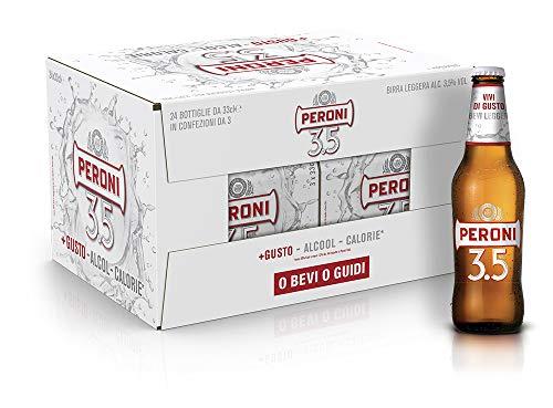 Birra Peroni 3,5 - Cassa da 24 x 33 cl (7.92 litri)