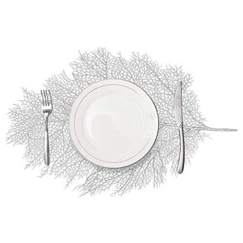 MLADEN Leaf Placemats, Washable Table Mats,Non-Slip Place Mats Table Decoration Set of 4