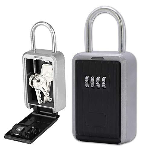 wolketon Schlüsseltresor, Schlüsselsafe mit zahlenschloss, Schlüsselkasten für aussen Innen Wandmontage wasserdicht mit Bügel