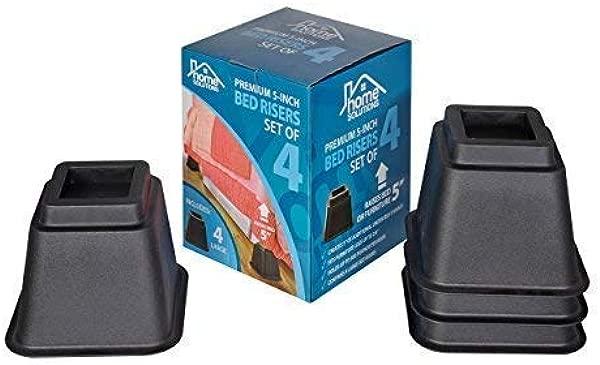 Home Solutions Premium 5 英寸床 Risers 或家具 Risers 桌子 Risers 椅子 Risers 或沙发 Risers 宿舍用完美床 Risers 4 件套