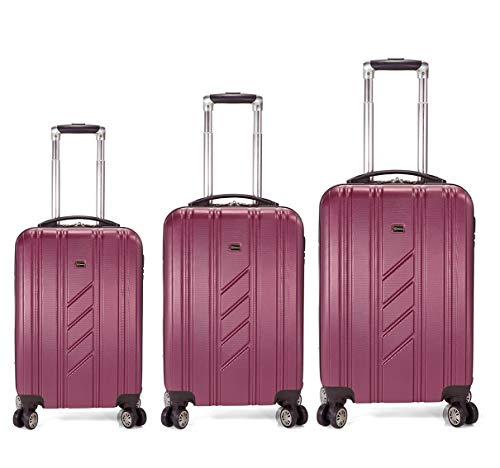 Benzi - Juego de maletas BZ5154 (Granate)