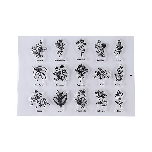 Silicone Clear Stamp Seal Scrapbook Plants Diary Album Decor Gift Card Kid Adult DIY Craft(#1)