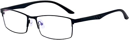 ALWAYSUV Black Classical Nearsighted Shortsighted Myopia Glasses -1.0 to -4.0 for Men Women These Are Not Reading Glasses