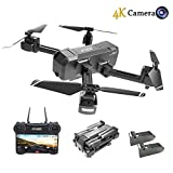 HSCOPTER Foldable Drone with WiFi FPV Live Video 4K Camera a...