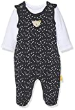 Steiff Baby-Mädchen Set T-Shirt Strampler, Blau (Black Iris 3032), 56