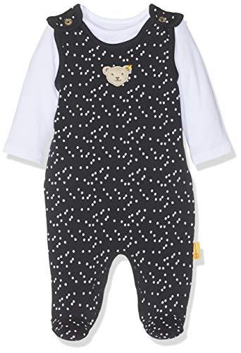 Steiff Baby-Mädchen Set T-Shirt Strampler, Blau (Black Iris 3032), 86