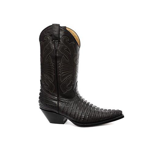 Grinders Carolinas Schwarz Croc Herren Western-Cowboy- Stiefel 42