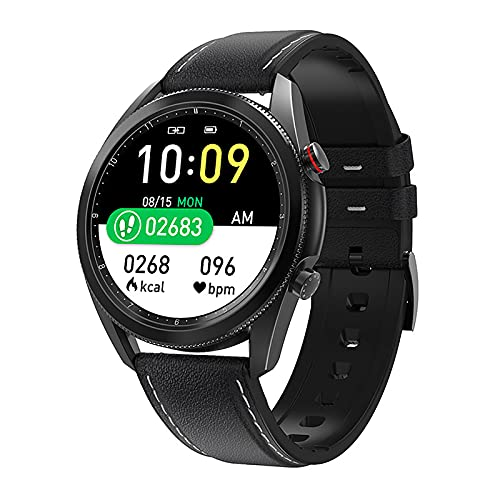 QFSLR Smartwatch 1.3 ″ Pantalla Táctil Frecuencia Cardíaca Presión Arterial Sueño Spo2 Monitoreo Llamada Bluetooth IP67 Podómetro Impermeable Reloj Deportivo Inteligente,Black b