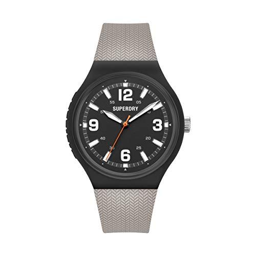 Superdry Reloj Analógico para Hombre de Cuarzo con Correa en Silicona SYG345E