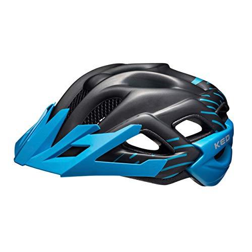 KED Status Helm Kinder Black/Blue Matte Kopfumfang S | 49-54cm 2020 Fahrradhelm