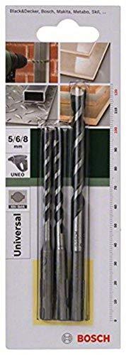 Bosch 2 609 256 918 - Juego de 3 brocas multiuso SDS-Quick (pack de 3)