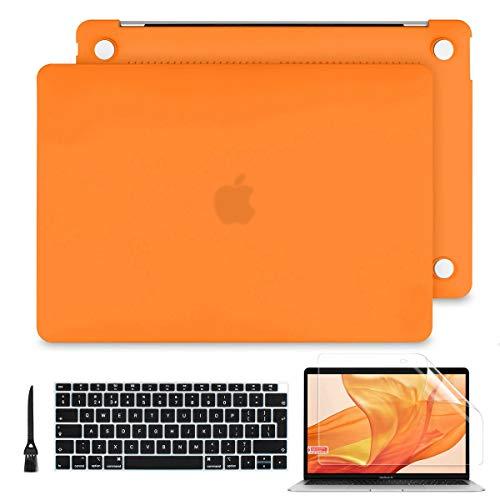 "Batianda Case per MacBook PRO 15.4 Pollici 2016/2017/2018, Sottile Plastica Cover Rigida Copertina per Nuovo MacBook PRO 15"" Touch Bar A1990 A1707 (Arancia)"