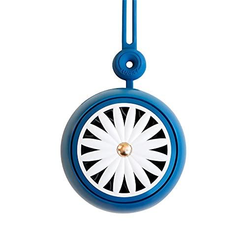 Ventilador de Cuello Portátil,Mini Ventilador,Ventilador de Cuello Portátil Recargable de 3 Velocidades, Ventilador de Escritorio,para Deportes al Aire Libre,Oficina (Color : Blue)